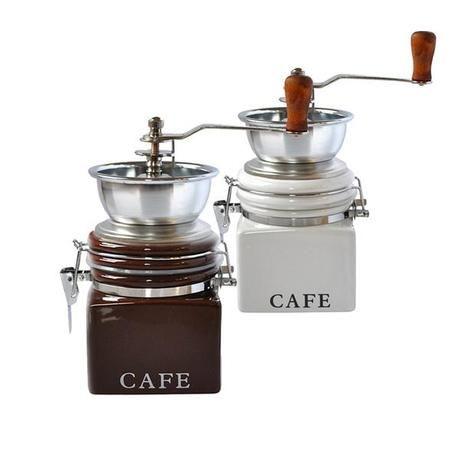 Mlýnek na kávu, porcelán/nerez, Černý TORO