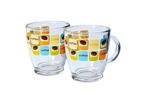 Hrnek na kávu 380 ml, sklo, set 2ks CERVE