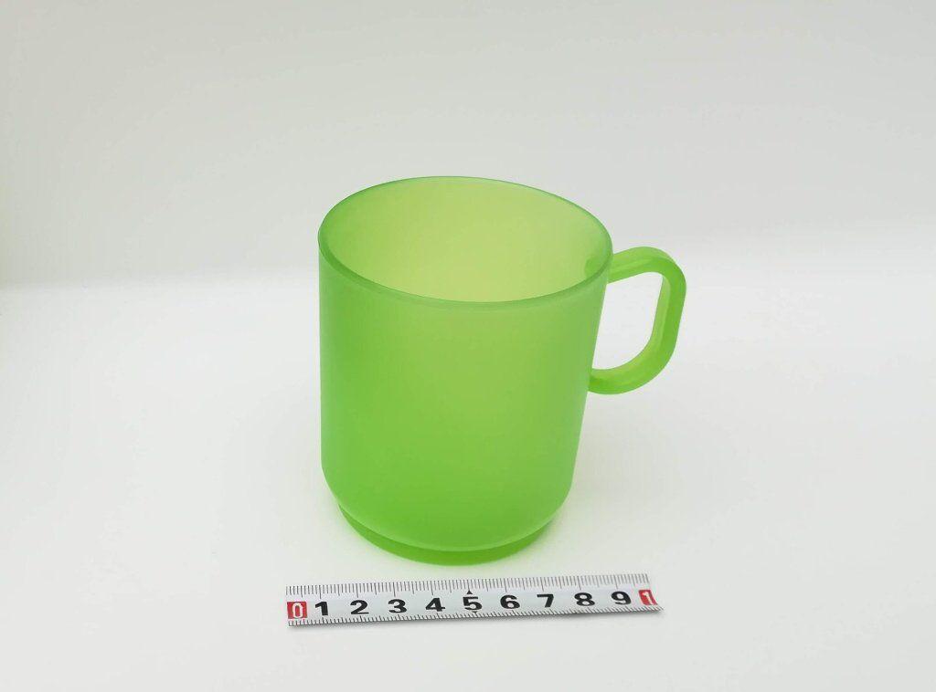 Hrnek plast - dětský - 250ml - zelený TVAR