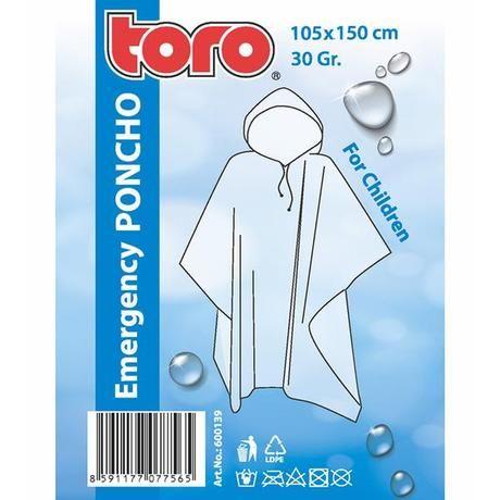 Poncho pláštěnka pro děti 105x150cm Toro