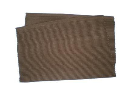 Prostírání žebrovaný profil, hnědé, 33 x 45 cm Toro