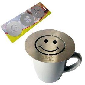 šablony na zdobeni kávy, 3ks, nerez TORO