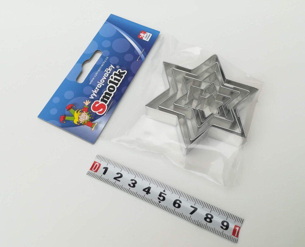 Vykrajovátka - Hvězdy 6 - cípů (5 ks) Smolík