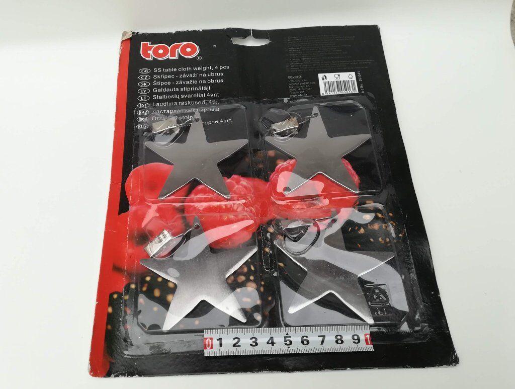 Závaží nerez 4ks - na ubrus - Hvězda TORO