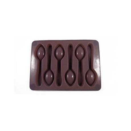 Forma hnědá, silikon, lžička na led / čokoládu Toro