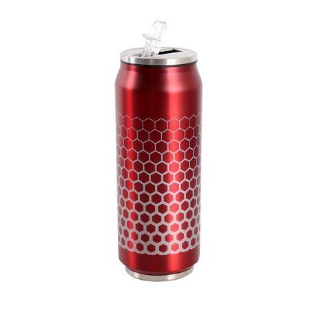 Nerezový termohrnek tvar plechovky 450 ml - červený Toro
