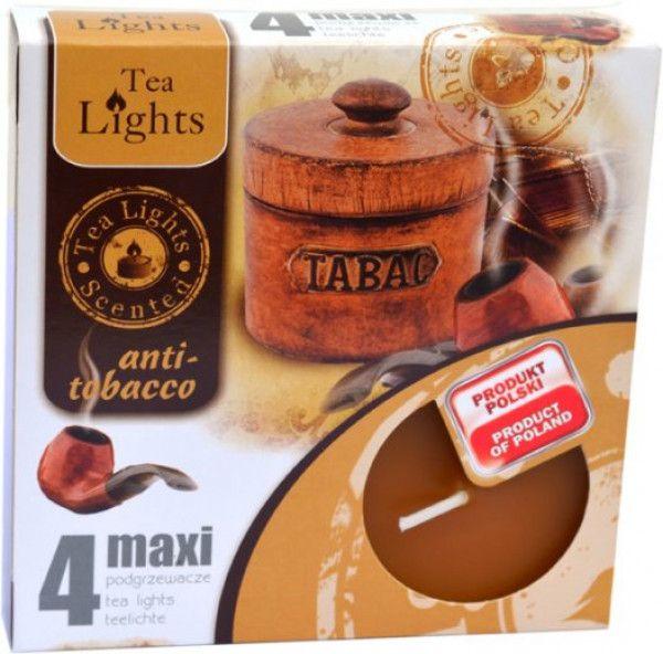 svíčka čajová Maxi 4ks aroma - Anti tabák Admit