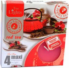 svíčka čajová Maxi 4ks aroma - Red Tea Admit