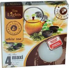svíčka čajová Maxi 4ks aroma - White tea Admit