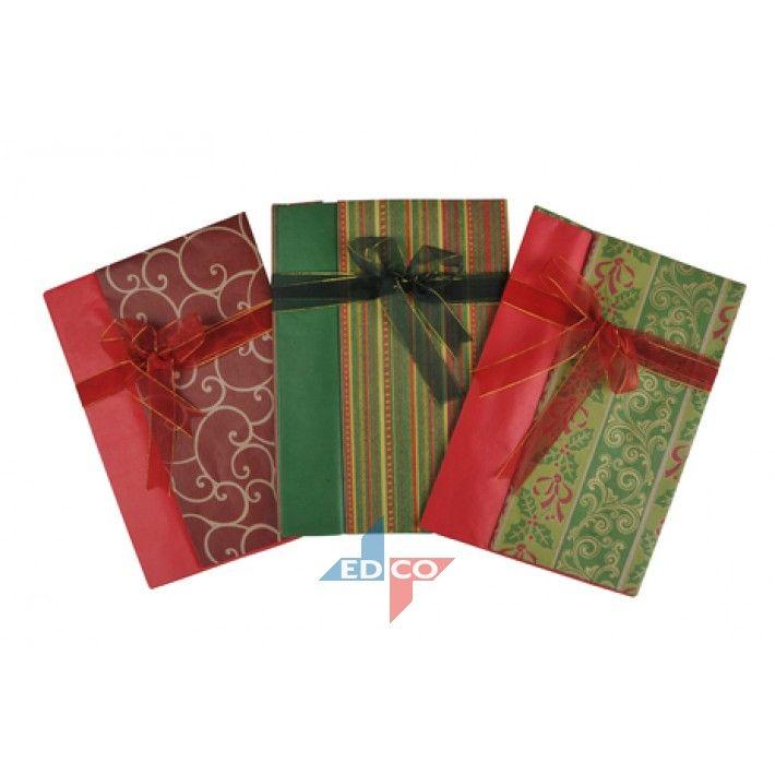 vánoční papír s mašlí - červený AIE