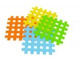Silikonová podložka, kostky, 17x17cm, oranž