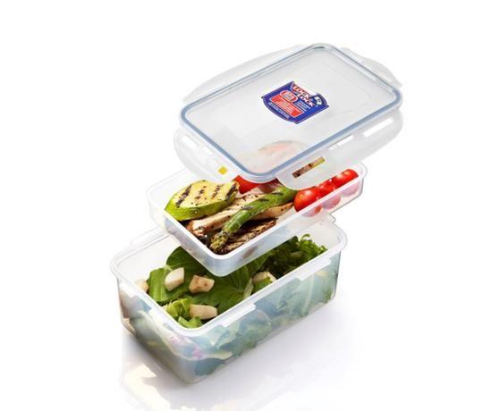 Dóza na potraviny s přihrádkou, 1,4 L HPL817HIR Lock