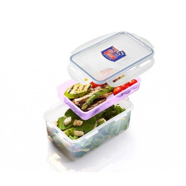 Dóza na potraviny s přihrádkou, 1,4 L HPL817HIP Lock