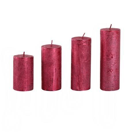 advetní svíčky 4ks barva červená Provence