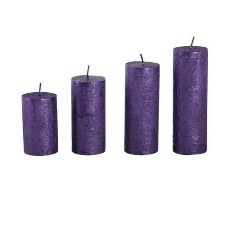 advetní svíčky 4ks barva fialová Provence