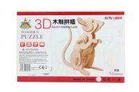 Lamps Dřevěné puzzle 3D Myš 069211