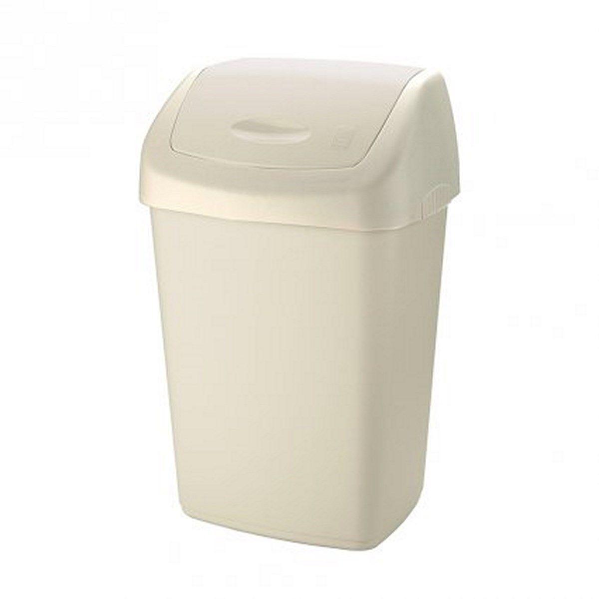 Odpadkový koš plast krémový 9L Tontarelli