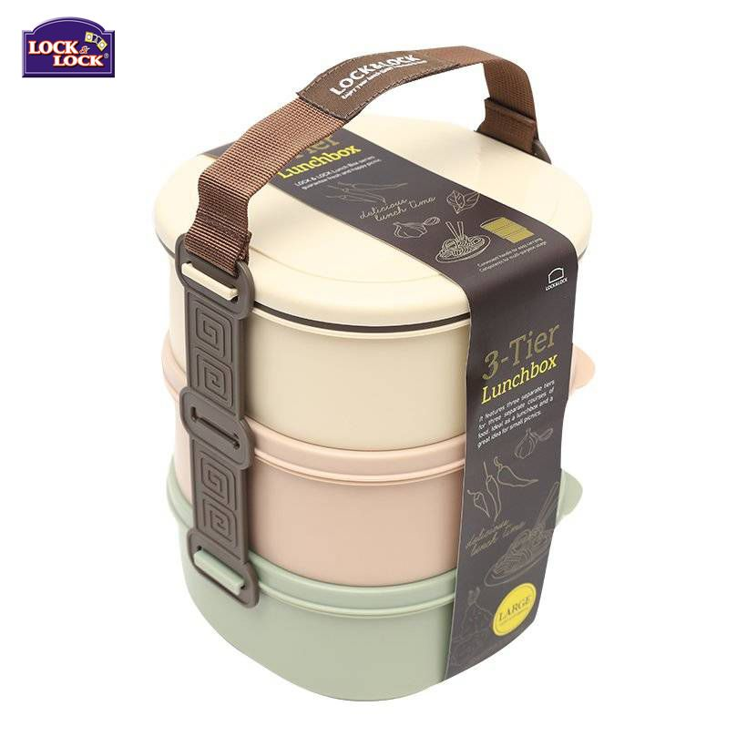 Lock jídlonosič plast 3 x 680 ml