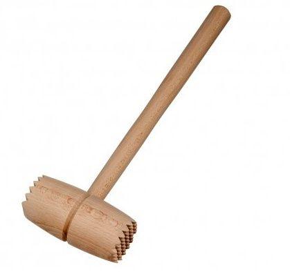 Palička na maso dřevo bez kovu klasik Holz