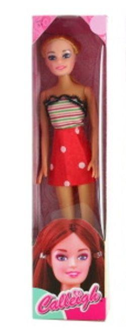 Panenka 28 cm v červené sukni Lamps