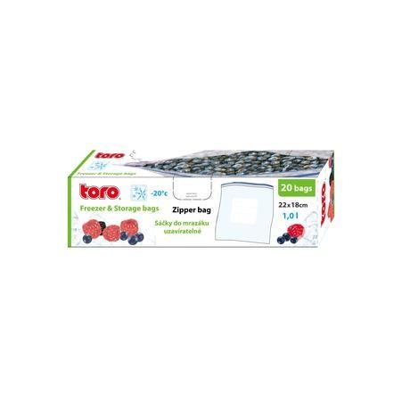 Potravinový sáček 22x18 cm na zamražení 20ks 1L Toro