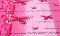 Povlečení na dvoulůžko  motýl - růžový