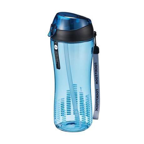 Sportovní láhev lock 550 ml se silikonovým brčkem - modrá
