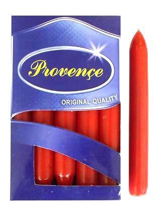 Svíčka bistro 1ks, 17x2cm, červená Provence