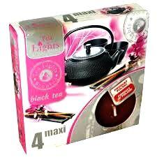 svíčka čajová Maxi 4ks aroma černý čaj Admit