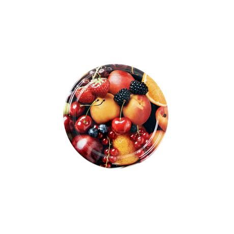 Víčko na zavařovací sklenice 10ks, 66mm, motiv fruits Toro