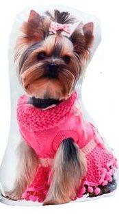 Zarážka dveří 1kg Pes růžový svetr AIE