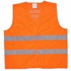 Vesta reflexní oranžová, pro cyklisty a chodce