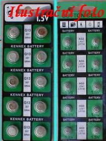 Baterie AG12 G12 386 LR43