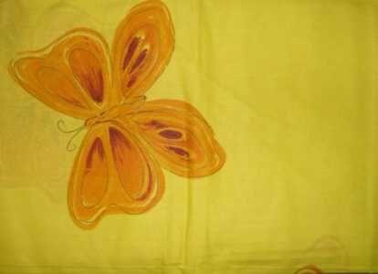 Povlečení na dvoulůžko motýl - žlutý David