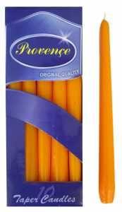 Svíčka 24x2,4 cm - oranžová Provence