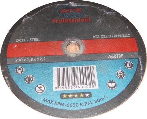 Kotouč řezný 230x1,8 ATX