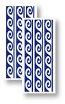 Samolepy dekor - modré vlnky 6x20cm Crearreda
