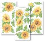 Samolepící dekorace - slunečnice 3ks 34x16 cm Crearreda