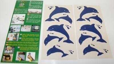 Samolepící dekorace - delfíni Crearreda