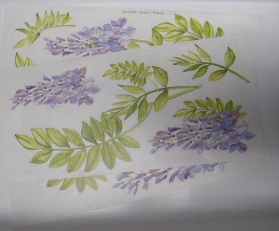 Samolepy dekor - fialové kytky