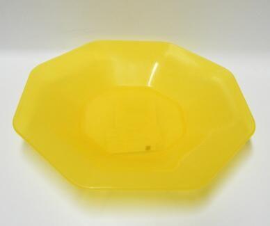 Talíř plast 8-hran 22cm - hluboký - žlutý