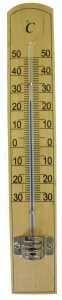 Teploměr sv. dřevo - 20x3,5 cm Provence