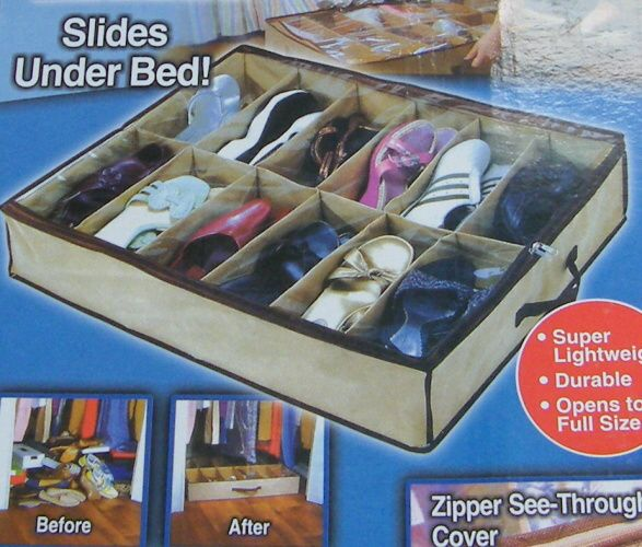 Box na boty - textilní, 67x57x12cm TV