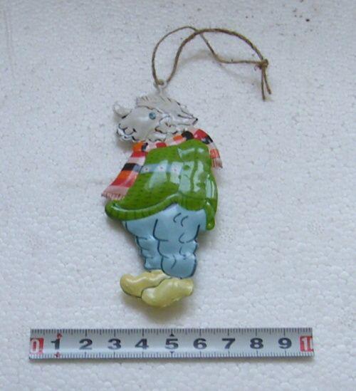Ovečka závěsná - kov 1ks - dekorace