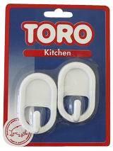 Háčky ovál plast 2ks Toro