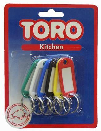 Rozlišovač na klíče 6ks Toro